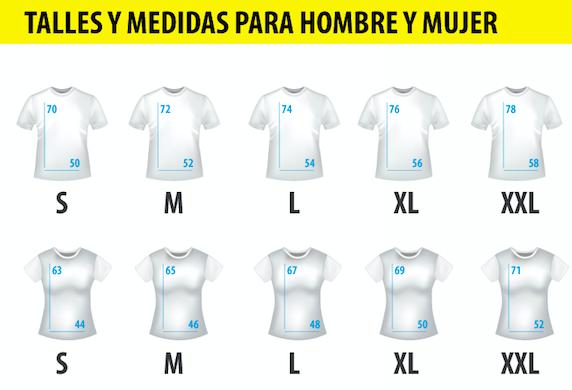 tabla de talles Como elegir el talle de tu camiseta